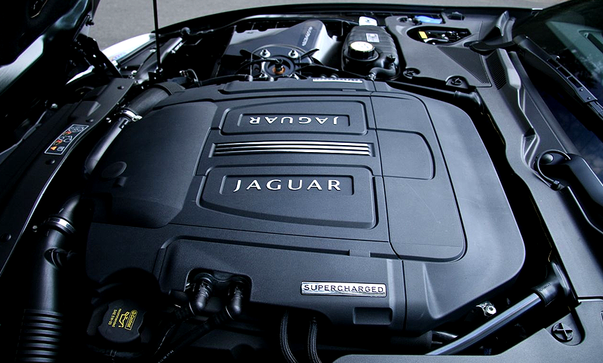 The colossal 5.0 V8 supercharged motor