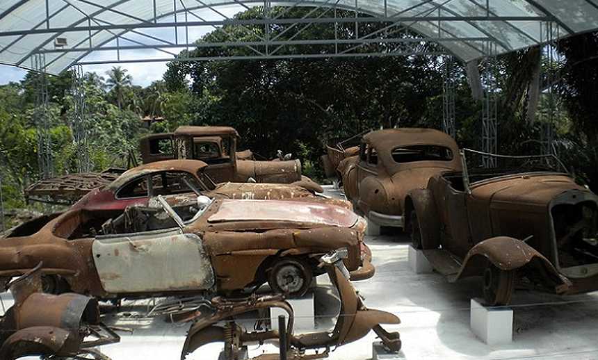 burnt and charred cars