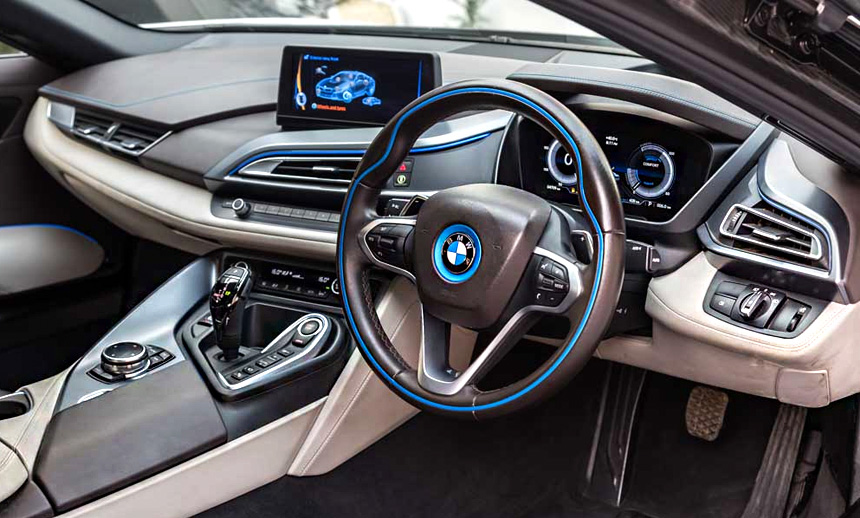 The i8's cutting edge and pioneering cabin