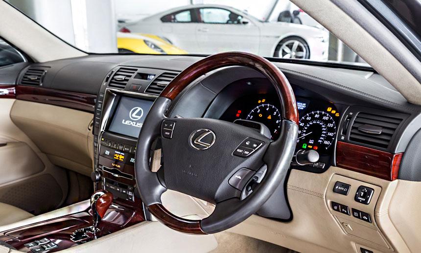 the LS 600h L's interior setup