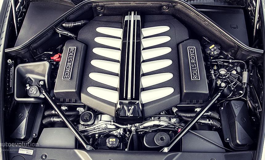 The Ghost sports a 563 bhp 6.6 L longitudinal V12 driving the rear wheels