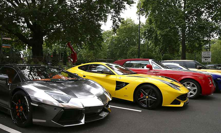 Supercars in UK
