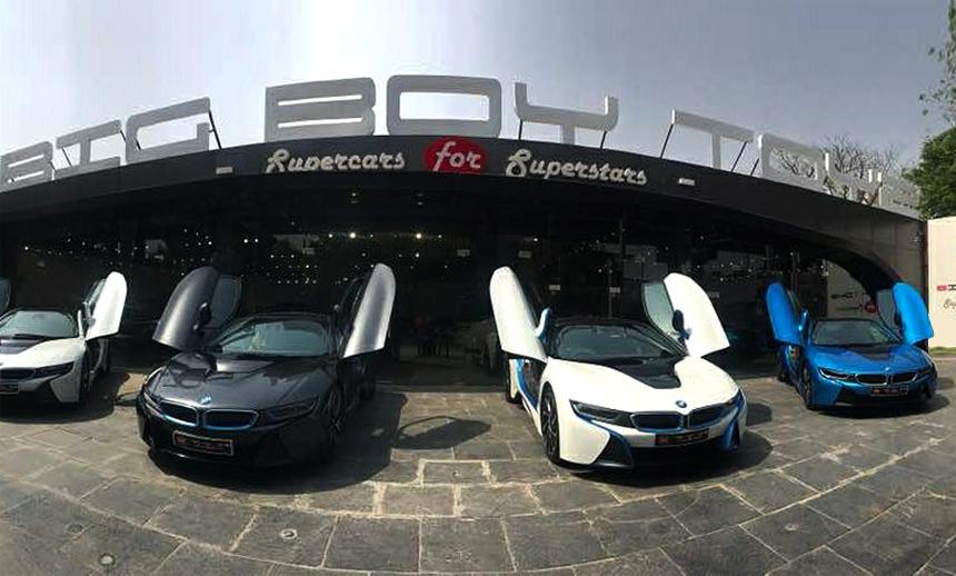 On a Fancy trip with the BMW i8's at Big Boy Toyz