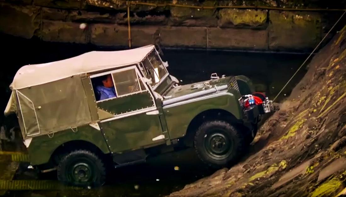 Climbing A Dam In A Land Rover