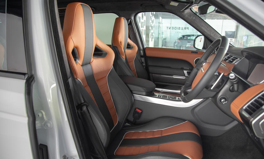 leather seats with the standout SVR