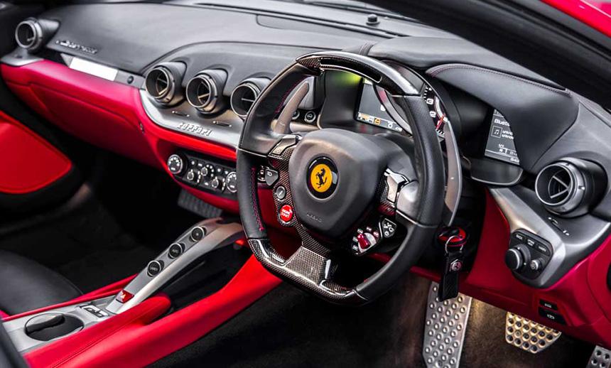 inside F12 Berlinetta