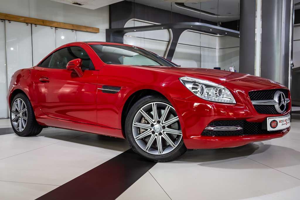 2015-Used-Mercedes-SLK-350-Red-2